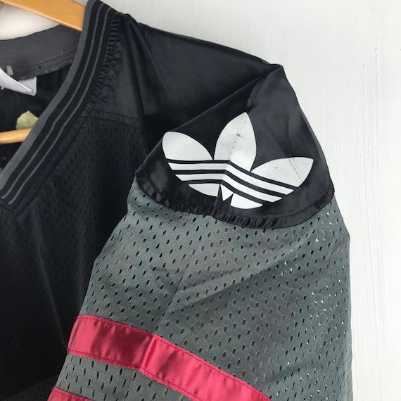 Big Size Jersey Stripe Streetwear Vintage Large 90s Mash ADIDAS Logo P1RE78g