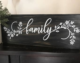 Family Sign | Rustic Family Sign | Rustic Wooden Family Sign | Wooden Family Sign | Made In Australia | Housewarming Gift | Gifts For Her