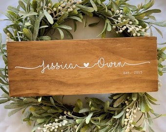 Custom Wedding Gift | Custom Wood Wedding Gift | Custom Couple Gift | Couple Sign | Wood Anniversary Gift | Personalised Wedding Gifts
