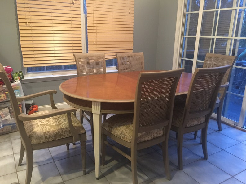 Brandt Genoa Table And 6 Ethan Allen Chairs Etsy