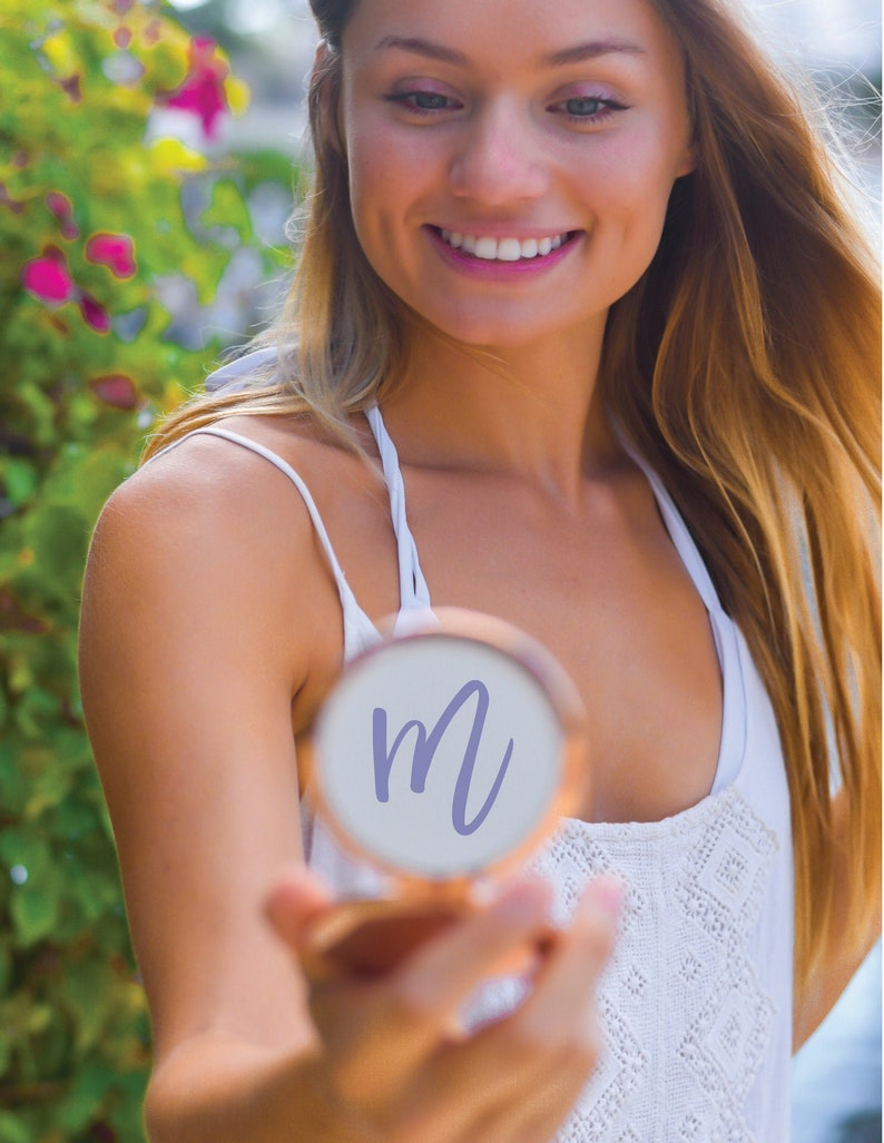 personalized compact mirror-Rose Gold compact image 0