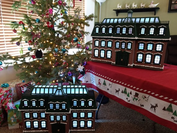 Christmas Advent House.Full Completed Christmas Advent House