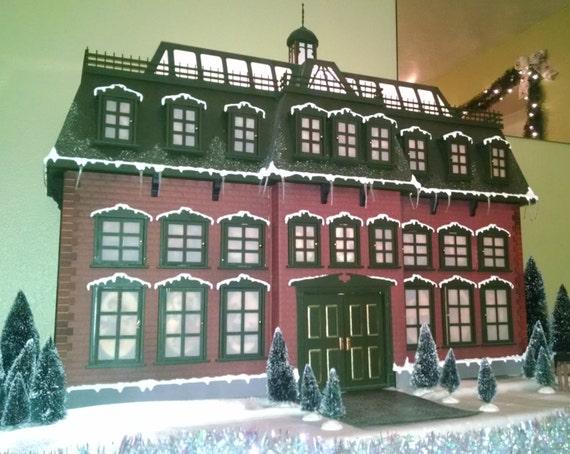 Christmas Advent House.Christmas Advent House Kit W Optional Brick Exterior