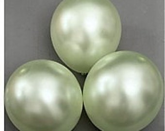 MINT Pearl Balloons - 12 Inch Balloons - Bridal Shower Balloons - Round Balloons - Wedding Balloons - Latex Balloons - Party Balloons