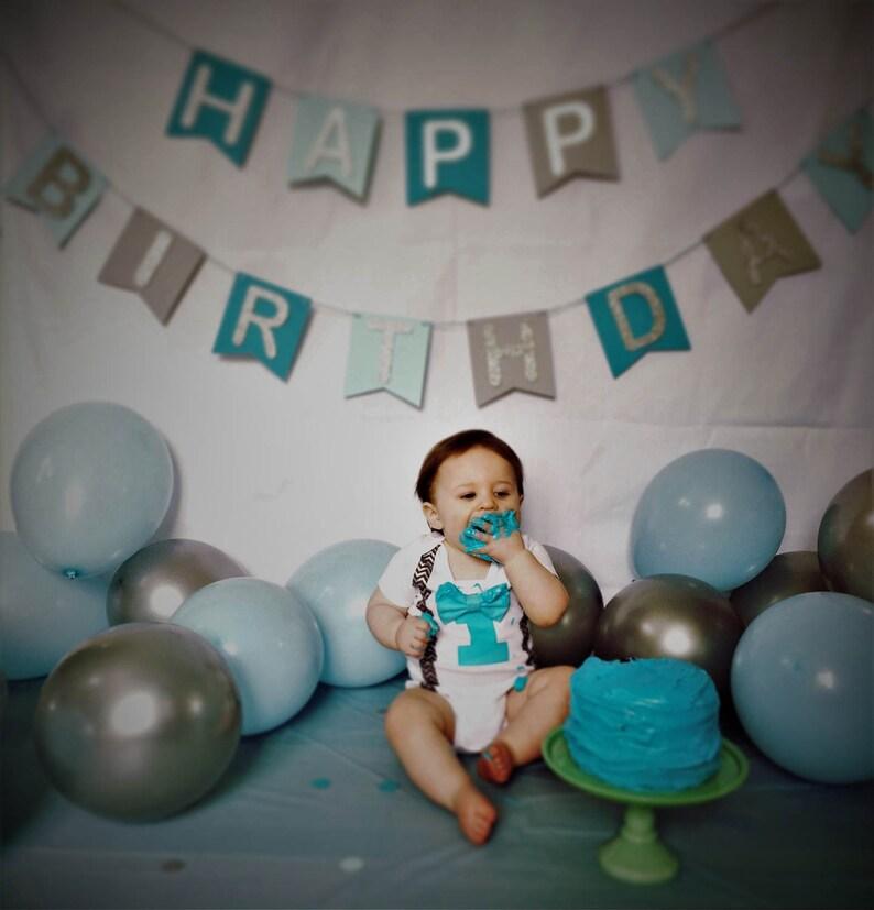 Happy Birthday Sign1st Birthday Boyfirst Birthday Boycake Etsy