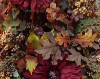 Fall Floral Arrangement in Large Hinged Basket