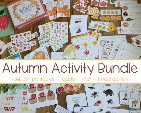 FALL BUNDLE  Autumn Preschool Homeschool  Busy Book