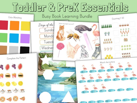Busy Book Bundle  Letters Shapes Numbers Counting Colors