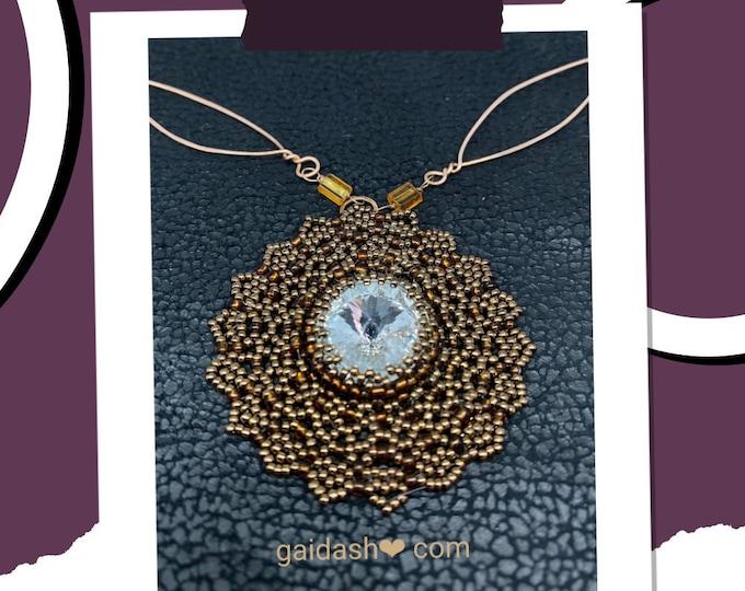 Mindfulness gift . Empath protection. Money amulet .Money spell. Obsession spell. Gratitude necklace . Mandala pendant. Sun Mandala. Boho