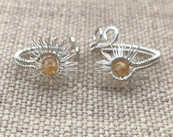 "Sterlin Silver Wire ""Sun"" Jewelry Ring.""Sun Light"" Wire Jewelry charm ring."