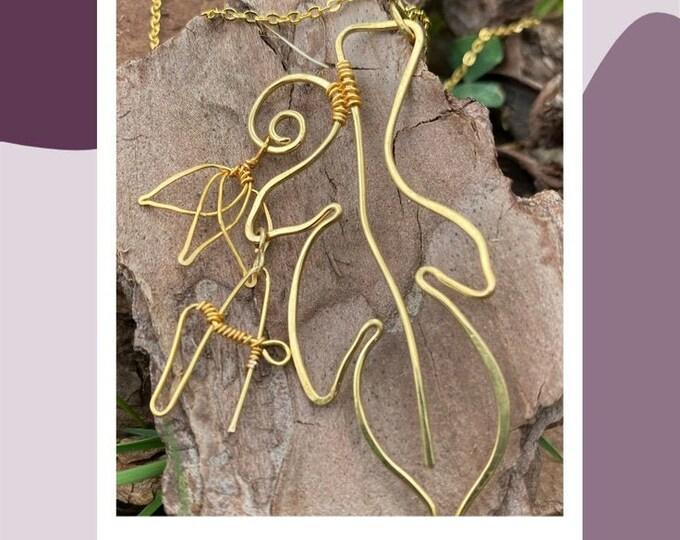 Archangel Gabriel . Feather Necklace. Wing necklace. Angel  Feather necklace. Custom jewelry. Necklaces for women. Wirewrapped jewelry