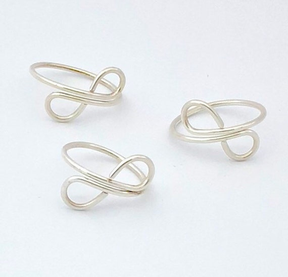 Simplistic Silver Wire Wrapped Ring, Sterling Silver Infinity Jewelry Wire Ring,Infinity love Wire Ring - Eternity Friendship Ring