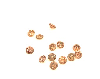 Brown diamonds.  2.3 to 2.5 mm each. Approximately .05 carats each.  Price  is per diamond.