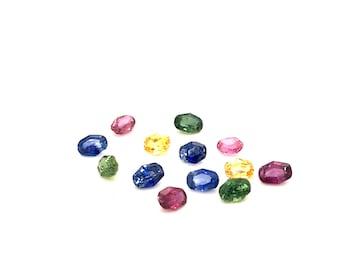 1.5mm Multi Color Sapphires Brillion Cut perfect stones 40 stones packs