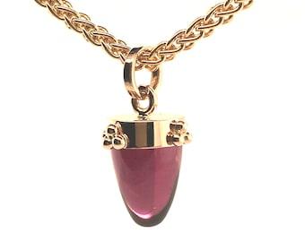 Rhodolite Garnet 14k Gold Pendant