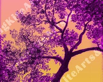 Purple Oak Tree Digital Print