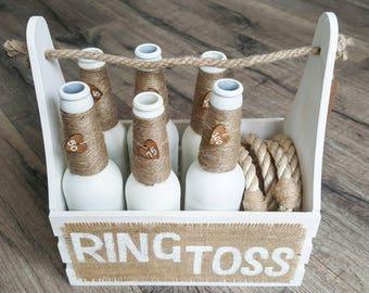 Ring Toss - White | Ring Toss Game | Wedding Game | Garden Game | Vintage Game | Ring Toss Set