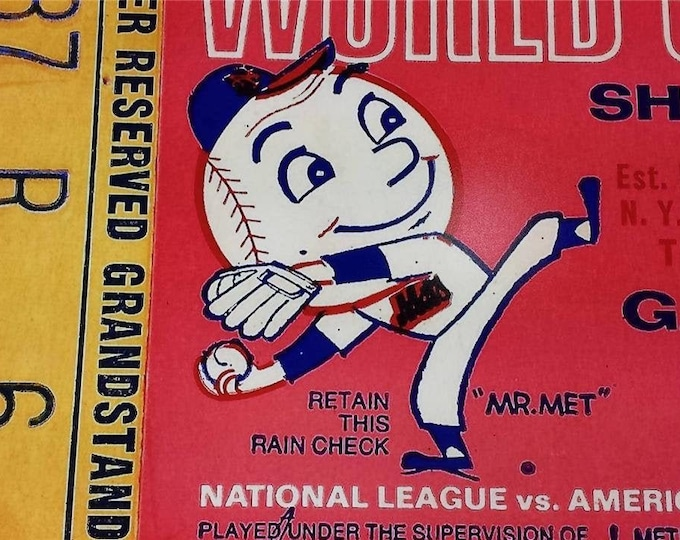 """1969 New York Mets World Series Game 3 Ticket Photograph / Pro Quality 13 x 19"""" Image Perfect For Framing - Great Gift for any Baseball Fan!"""