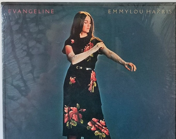 Vintage Vinyl Record Emmylou Harris 'Evangeline' Stereo LP Album 1981 - Genuine Original - Shrink Wrapped - WB Records - Very Near Mint!