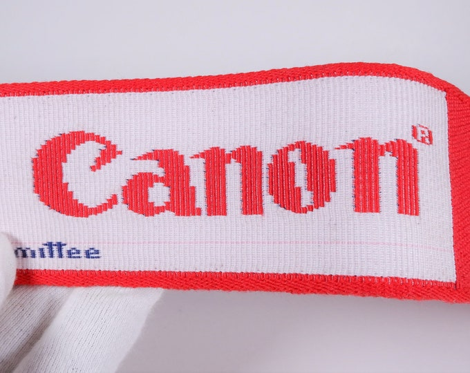 "Rare Canon ""The Official 35mm Camera of the 1984 LA Olympics"" Adjustable Strap - New Condition - Genuine Canon Strap - Red, White & Blue"