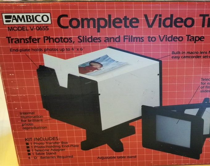 Ambico Model V-0655 Video Transfer System - New in Box - Mint Condition - 100% Tested & Working - Transfer Movies, Slides, Photos to Digital