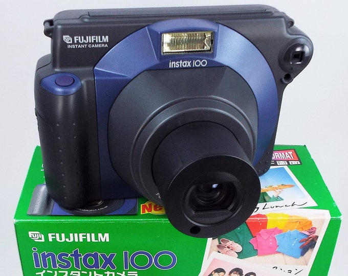 Mint New in Box Fujifilm Instax 100 Wide Format Instant Film Camera - Fully Tested, 100% Working - Includes Instax Film & New Batteries!