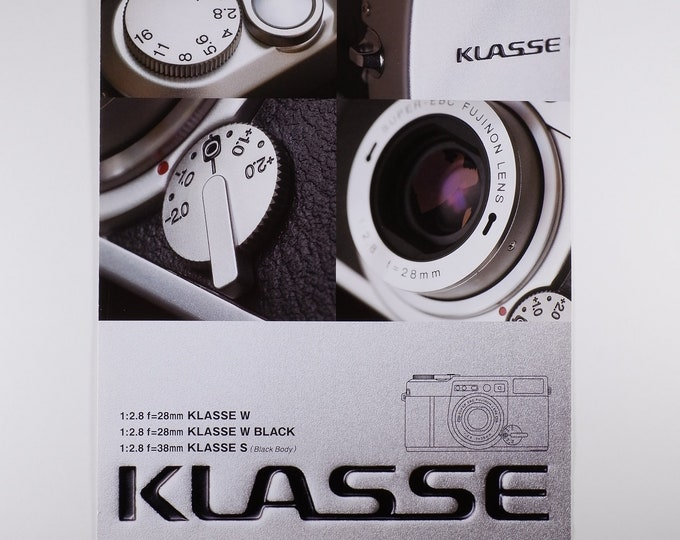 Fujifilm Klasse Sales Brochure - Full Color Original - 35mm Film Camera from Japan - 21 x 30cm Format - Mint Condition - Collector Quality