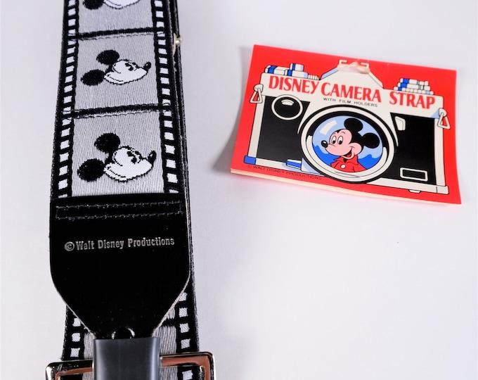 Genuine Bobby Lee Walt Disney Productions Mickey Mouse Camera Strap - Black & White Film Strip - Adjustable - Unused w/ Package - Mint