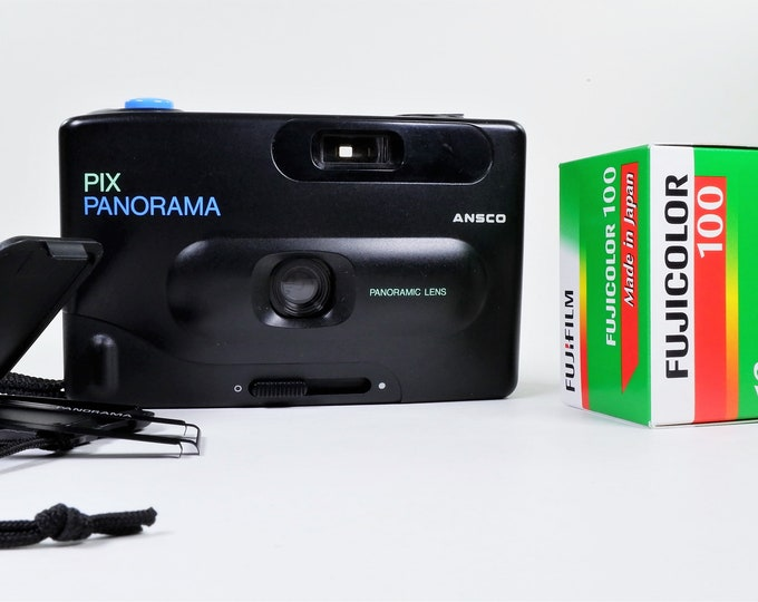 Ansco Pix Panorama 35mm Film Camera with Fujicolor Film - Perfect Lo-Fi Lomography Camera - Fully Working - Free Film!