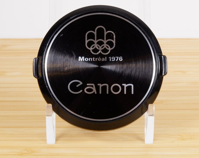 Canon Montreal 1976 Olympics 55mm Front Lens Cap - Genuine Canon Cap - Hard to Find Classic Canon Accessory - Free USA Shipping!