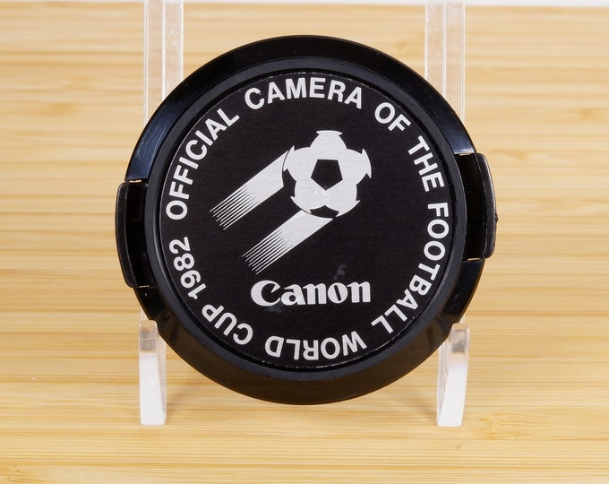 Canon 1982 Football World Cup 52mm Front Lens Cap - Official Camera - Soccer - Hard to Find Classic Canon Accessory - Free USA Shipping!