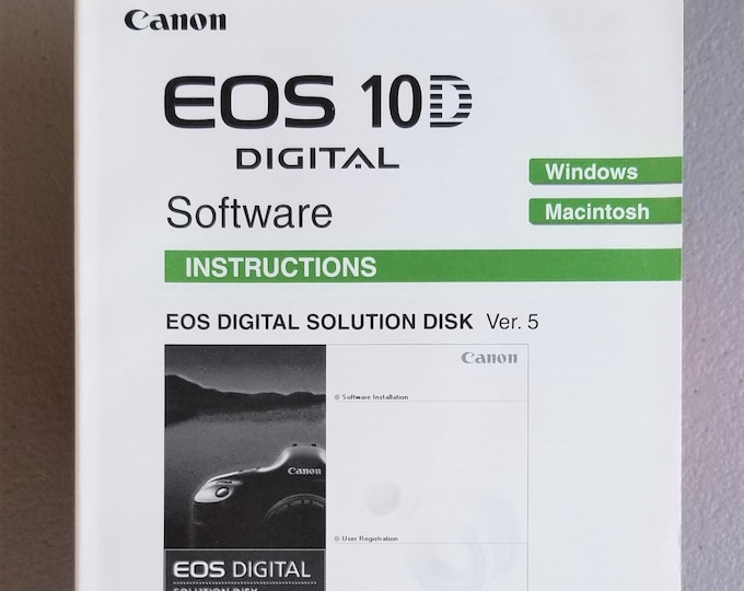 Canon EOS 10D Digital Software Original Instruction Booklet / Owner's Manual / User's Guide - No Disc - 74 Pages - English Edition - 2003