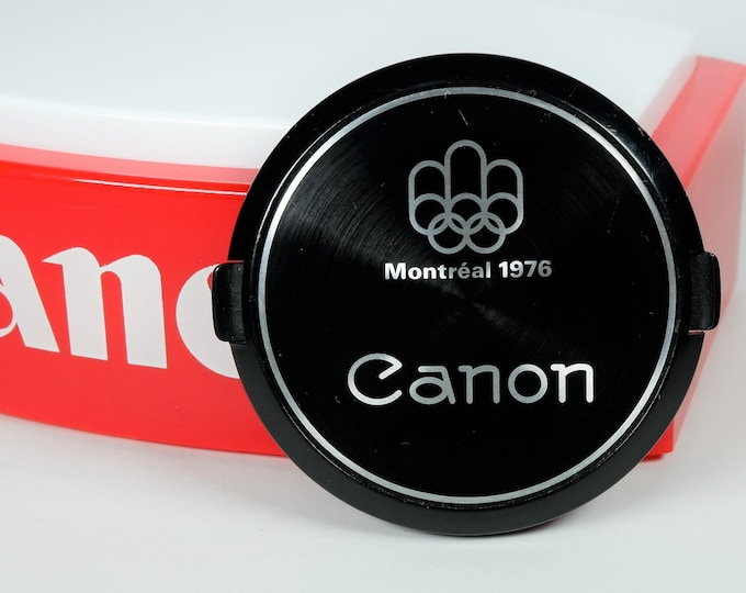 Canon Montreal 1976 Olympics 55mm Front Lens Cap - Official Camera - Hard to Find Classic Canon Accessory - Free USA Shipping!