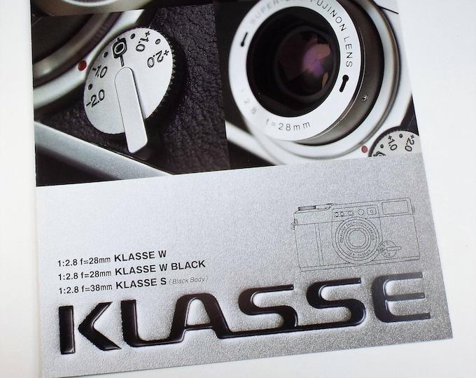 Fujifilm Klasse Sales Brochure - Full Color Original - 35mm Film Camera from Japan - Large 21 x 30cm Format - Mint Condition New