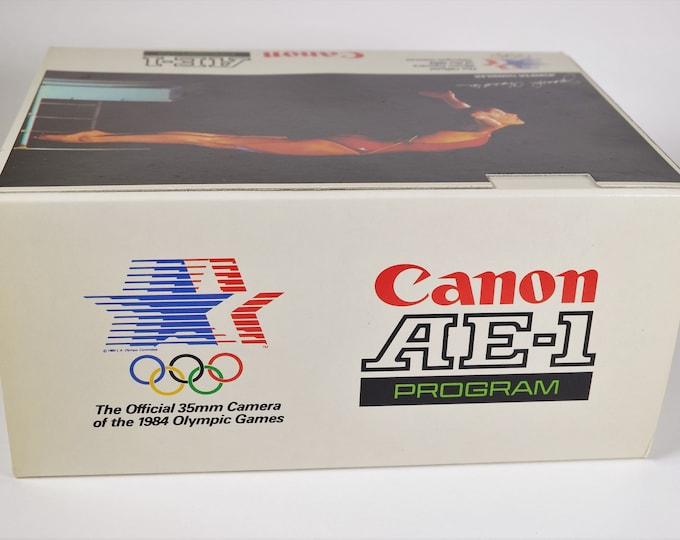 "Rare Canon AE-1 Program ""The Official 35mm Camera of the 1984 LA Olympics"" Original Collectors Box - Near Mint Cond - Complete w/ Inserts"