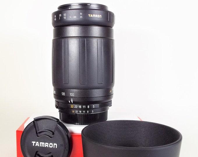 Tamron AF Tele-Macro 100-300mm f5 Lens - Nikon F Mount - Tamron Front & Rear Caps + Hood - 100% Tested - Nikon DSLR or SLR - Made in Japan