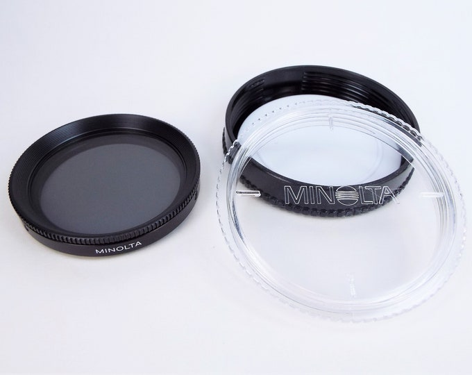 Genuine Minolta 49mm Polarizing (Circular) Filter w/ Original Case - Glass and Metal Screw-in Filter - Made in Japan - Mint Condition