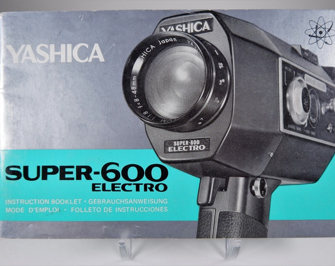 Vintage Yashica Super-600 Electro Movie Camera Original Instruction Booklet / Owner's Manual / User's Guide - 24 Pages - Excellent Condition