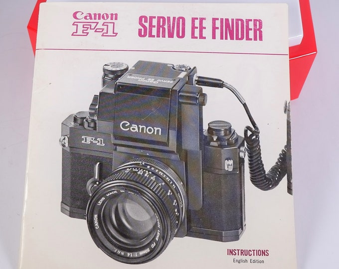 Vintage Canon F-1 35mm SLR Servo EE Finder Original Instruction Booklet / Owner's Manual / User's Guide - 23 Pages - Near Mint Condition