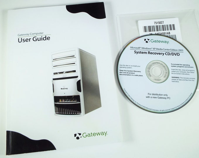 Gateway Computer User Guide Book and System Recovery CD/DVD -Free Shipping*