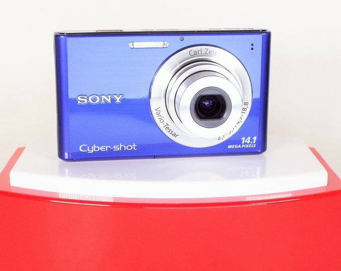 Sony Cyber-shot DSC-W330 Digital Camera w/ Carl Zeiss 4X Zoom Lens - Original Box, Sony Battery, Charger, Strap - Tested Working Perfectly!