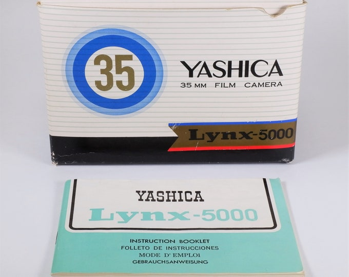 Yashica Lynx - 5000 Original Box w/ Inserts and Original Instruction Booklet in English, Spanish, French & German- Nice for your Collection