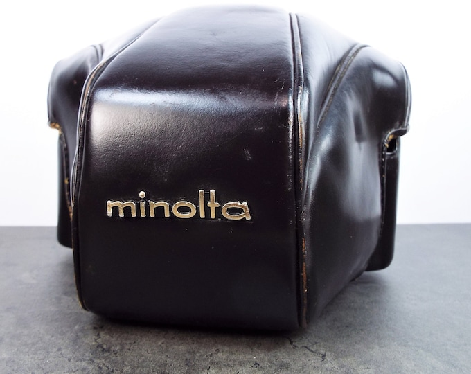 Vintage 1969 Minolta Leather Camera Case for 35mm Minolta Cameras - SR-T 101 and Others (SR Series) - Free USA Shipping!!!