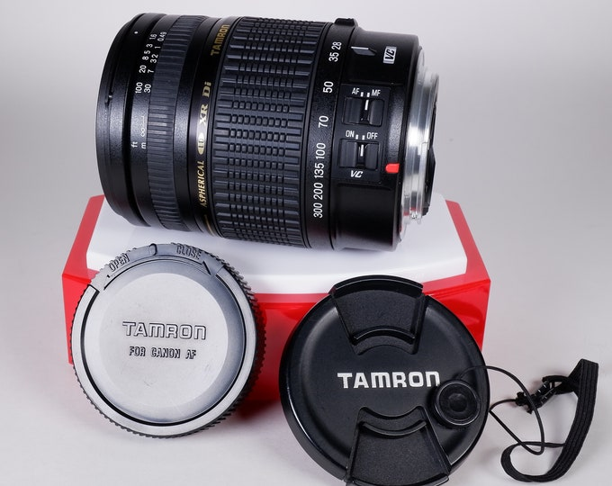 Tamron-Canon Aspherical LD XR Di Auto Focus 28-300mm f3.5 (IF) Zoom Macro Lens - Canon Mount - w/ Caps - Fully Tested & Working - Near Mint