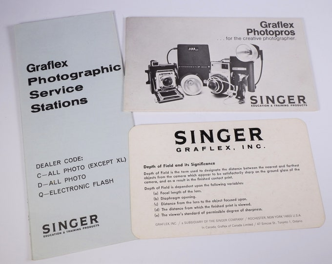 Graflex Photopros Sales Brochure - Pacemaker, Super Graphic 45, Century 23, XL Cameras - Original  - 18 Pages - Excellent Condition