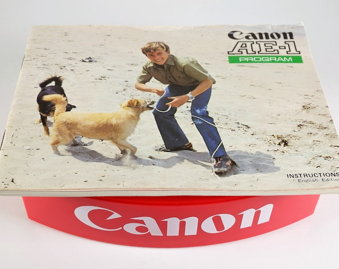 Vintage Canon AE-1 Program 35mm SLR Camera Original Instruction Booklet / Owner's Manual / User's Guide - 86 Pages - Excellent Condition