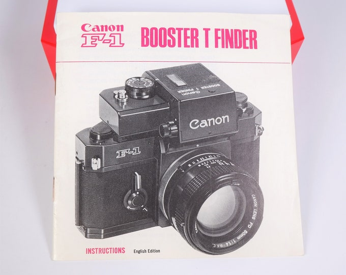 Vintage Canon F-1 35mm SLR Booster T Finder Original Instruction Booklet / Owner's Manual / User's Guide - 23 Pages - Near Mint Condition