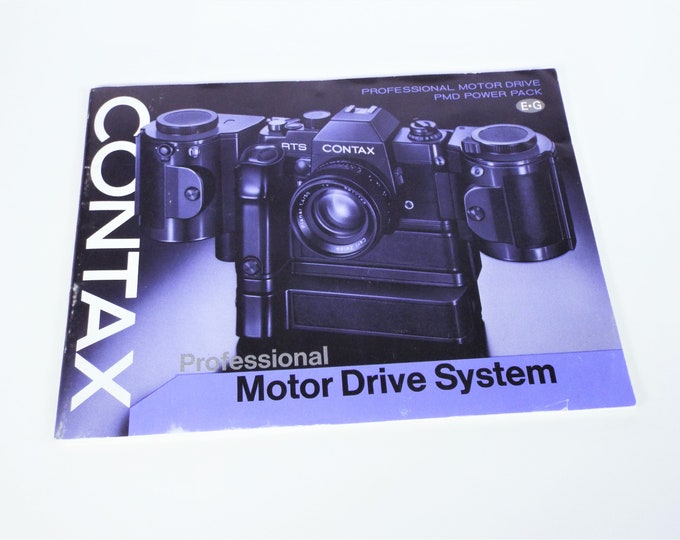 Vintage Original 1977 Contax RTS Professional Motor Drive System Instruction & Accessories Booklet - English/German - Excellent Condition