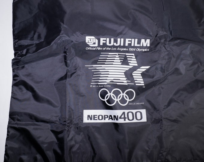 Rare Fujifilm Neopan Film Changing Dark Bag - Official Film of the Los Angeles 1984 Olympics - Unused with Original Box