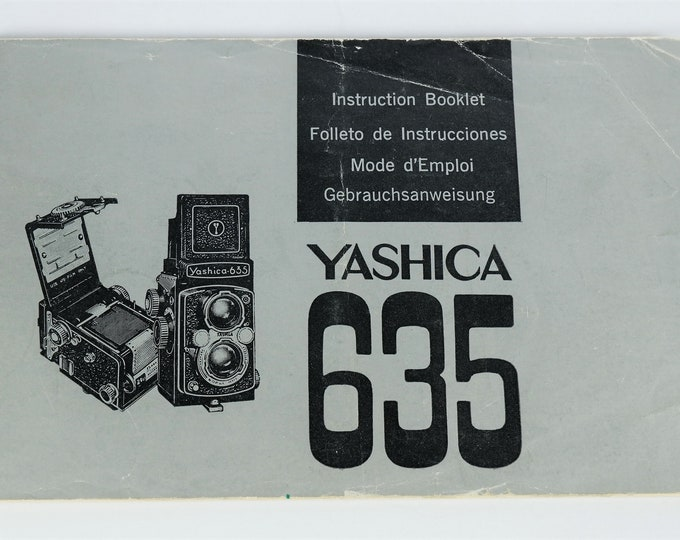 Yashica 635 TLR Camera - Original Instruction Booklet / Owner's Manual / User's Guide - 17 Pages / 1966 / Free USA Shipping!
